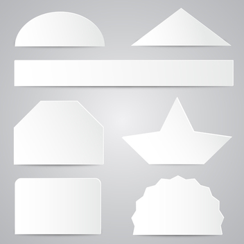 White Paper Shapes - vector #202767 gratis
