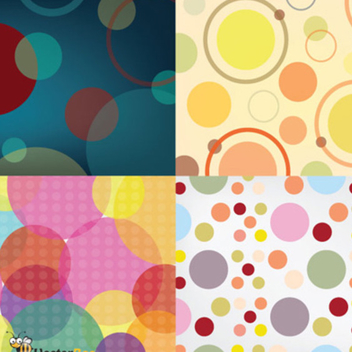 Seamless Vector Circle Patterns - Free vector #202787