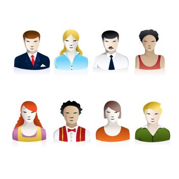 Vector People Icons - vector gratuit #202797