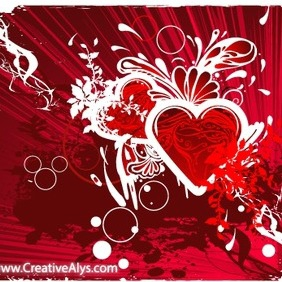 Creative Grungy Heart Background Design - vector #202887 gratis