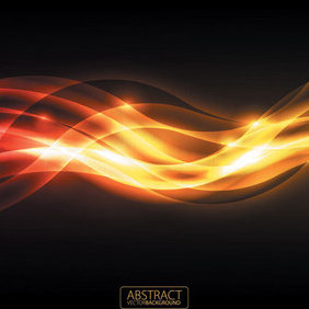 Orange Glare Background - Kostenloses vector #202907