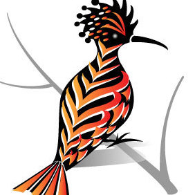 Bird With Colorful Feather Vector - Free vector #203017