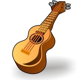Classic Guitar Icon - Free vector #203027