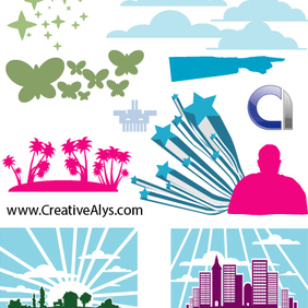 Elements For Logo, Web & Graphic Design - Kostenloses vector #203087