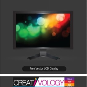 Free Vector LCD Display - vector gratuit #203227