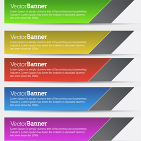 Free Vector Of The Day #154: Vector Banners - Kostenloses vector #203257