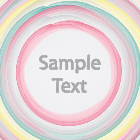 Colorful Brushed Circles - vector gratuit #203287