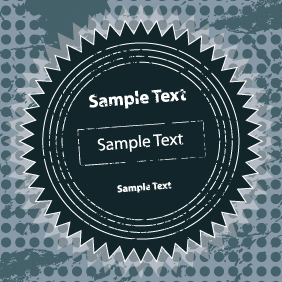 Grunge Sticker Card Design - Free vector #203487