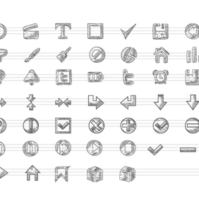Free Doodle Icons Vector Set - Free vector #203517