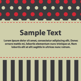 Sweet Black And Red Banner - Kostenloses vector #203637