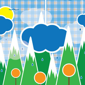 Rain Forest Illustration - Free vector #203767