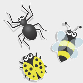 Free Vector Of The Day #111: Bug Icons - Free vector #203787