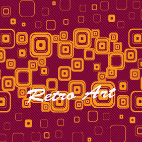 Retro Orange Squars Free Vector - Free vector #203827