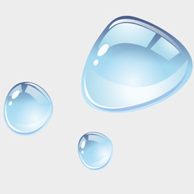 Free Vector Of The Day #96: Water Droplets - бесплатный vector #203847