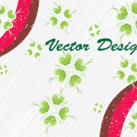 Green Flower In Gris Lined Background - vector #203877 gratis