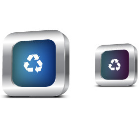 Recycle Metal Icon - vector gratuit #203887