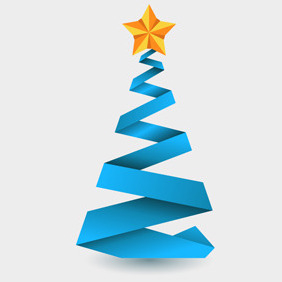 Free Vector Of The Day #129: Origami Christmas Tree - Kostenloses vector #204017