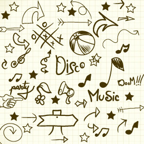 Doddle Music Elements 1 - Kostenloses vector #204047