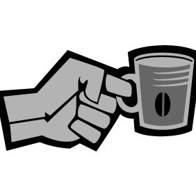 Hand Holding A Cup - vector gratuit #204087