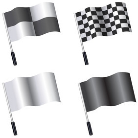 Flag Templates - vector gratuit #204137