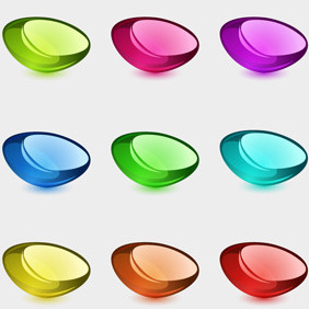 Free Vector Of The Day #126: Colorful Glossy Shapes - Kostenloses vector #204167