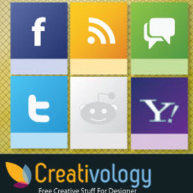 Free Vector Social Media Icon - vector gratuit #204197