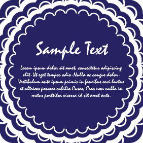 Blue Background Vector Card - vector #204377 gratis