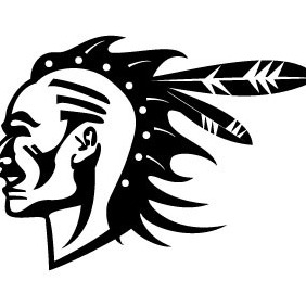 Native American Warrior - Free vector #204437