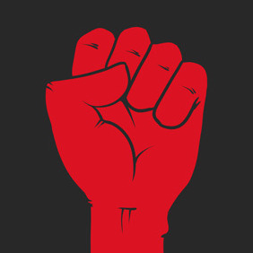 Free Vector Of The Day #117: Closed Fist - vector gratuit #204507