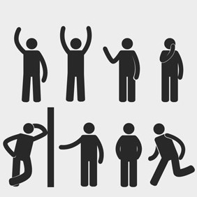 Free Vector Of The Day #115: Basic Postures - vector #204567 gratis