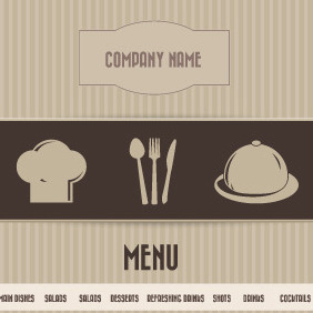 Free Vector Of The Day #40: Restaurant Menu - vector gratuit #204597