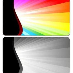 Abstract Burst Card - Free vector #204917