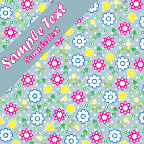 Background Card Design With Flowers - vector gratuit #204927
