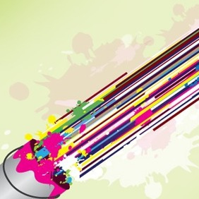 Colorful Lines Abstract Design - Free vector #204977