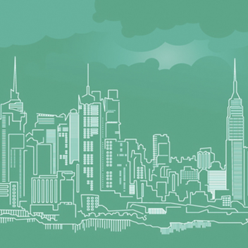 New York City Skyline Vector - vector gratuit #205087