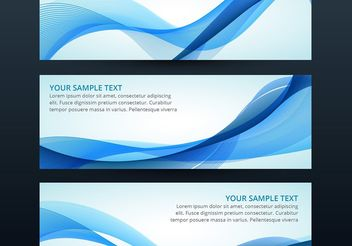 Set of vector wave banner - Kostenloses vector #205107