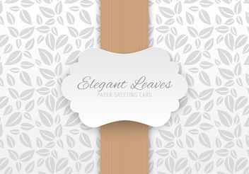 Elegant Paper Greeting Card - vector gratuit #205137