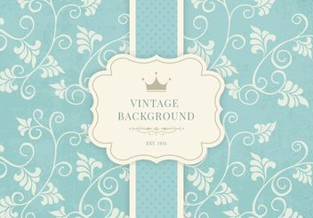 Vintage Floral Background - vector #205147 gratis