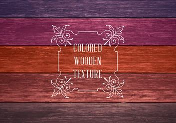 Colored Wooden Texture - vector gratuit #205177