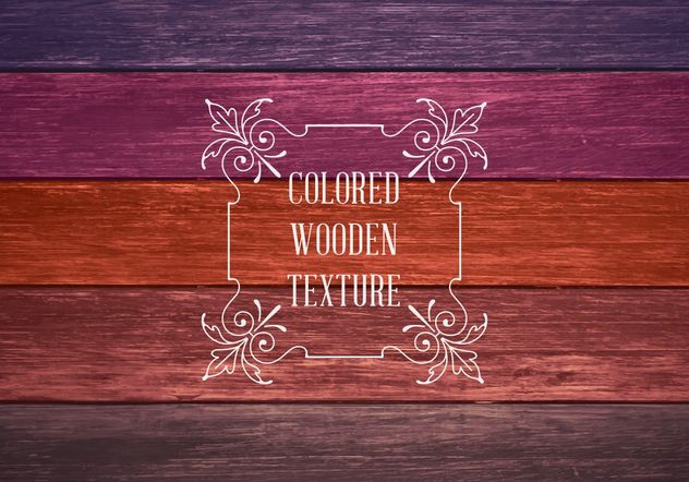 Colored Wooden Texture - Free vector #205177