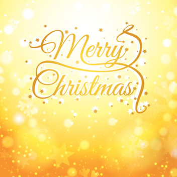 Golden Christmas Card - Free vector #205257