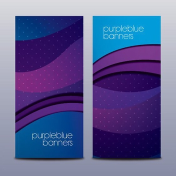 Purple Blue Banners - vector gratuit #205307