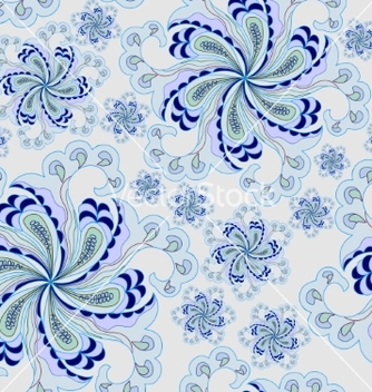 Free colorful seamless pattern abstract flowers vector - Free vector #205397