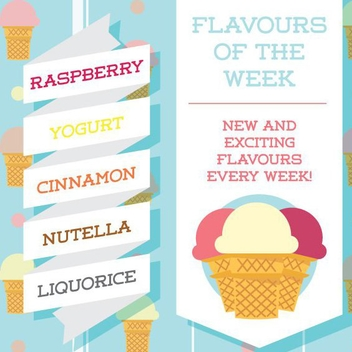 Ice Cream Flavours - Free vector #205627