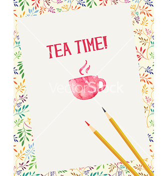 Free tea time vector - Free vector #205677
