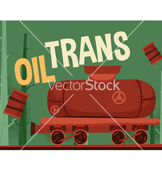Free oil train vector - vector gratuit #205747