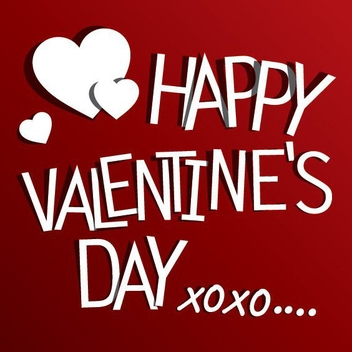 Red Valentine's Greeting - Free vector #205857