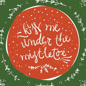Under The Mistletoe - Free vector #205987