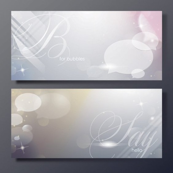Shiny Bubble Banners - Free vector #206037