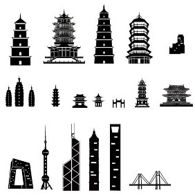 Building Silhouettes - Free vector #206087